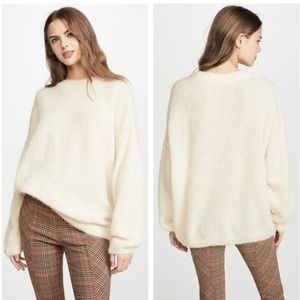 NWT Free People Angelic Sweater in Ivory Size XS